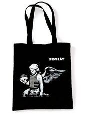 BANKSY WINGED CHERUB TOTE  SHOPPING  SHOULDER BAG - Fallen Angel