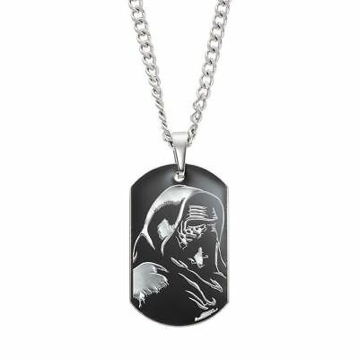 Star Wars VII Kylo Ren Dog Tag Pendant Stainless Steel Necklace
