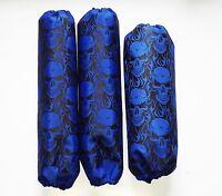 Shock Covers Yamaha Banshee Blue Skulls Atv Set Of 3