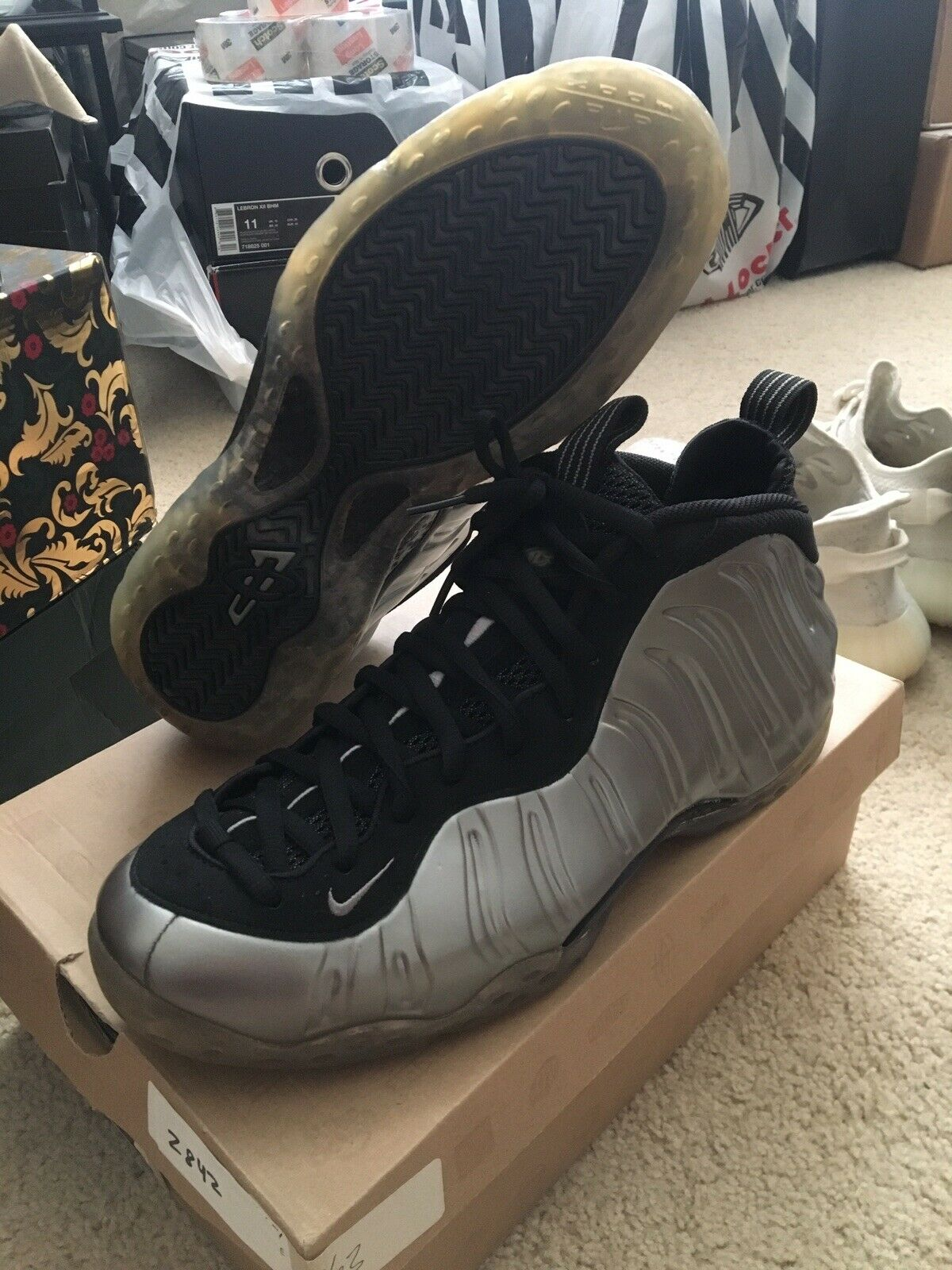 2011 Nike Air Foamposite One Metallic Pewter Silver Authentic Receipt VNDS US 11