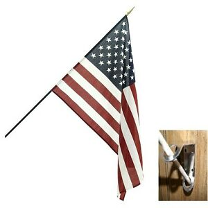 """12x18 12/""""x18/"""" Syria Two Star Country Stick Flag 30/"""" wood staff"""