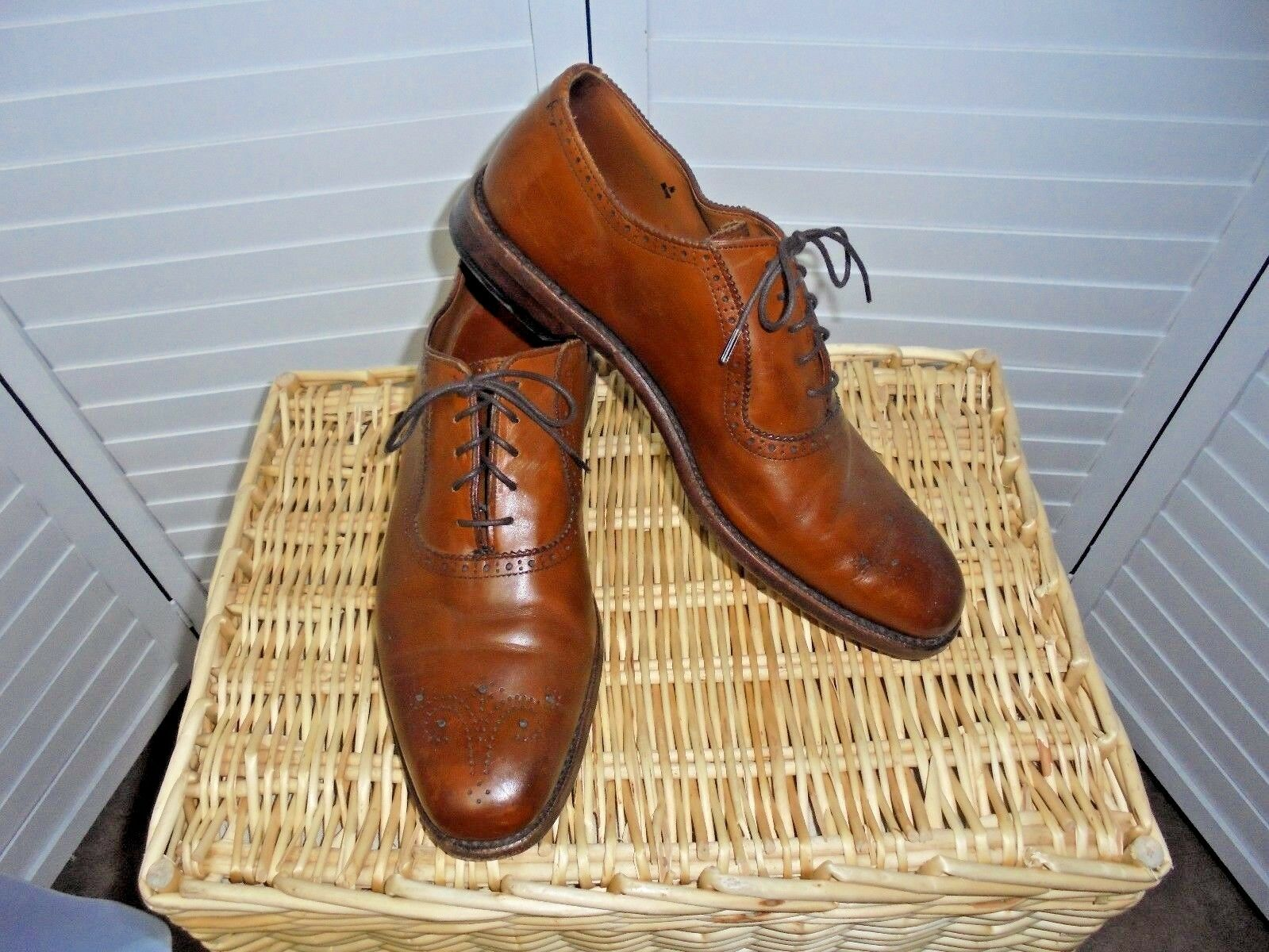 395 Allen Edmonds Cornwallis Oxford Balmoral Marron Taille 11 d