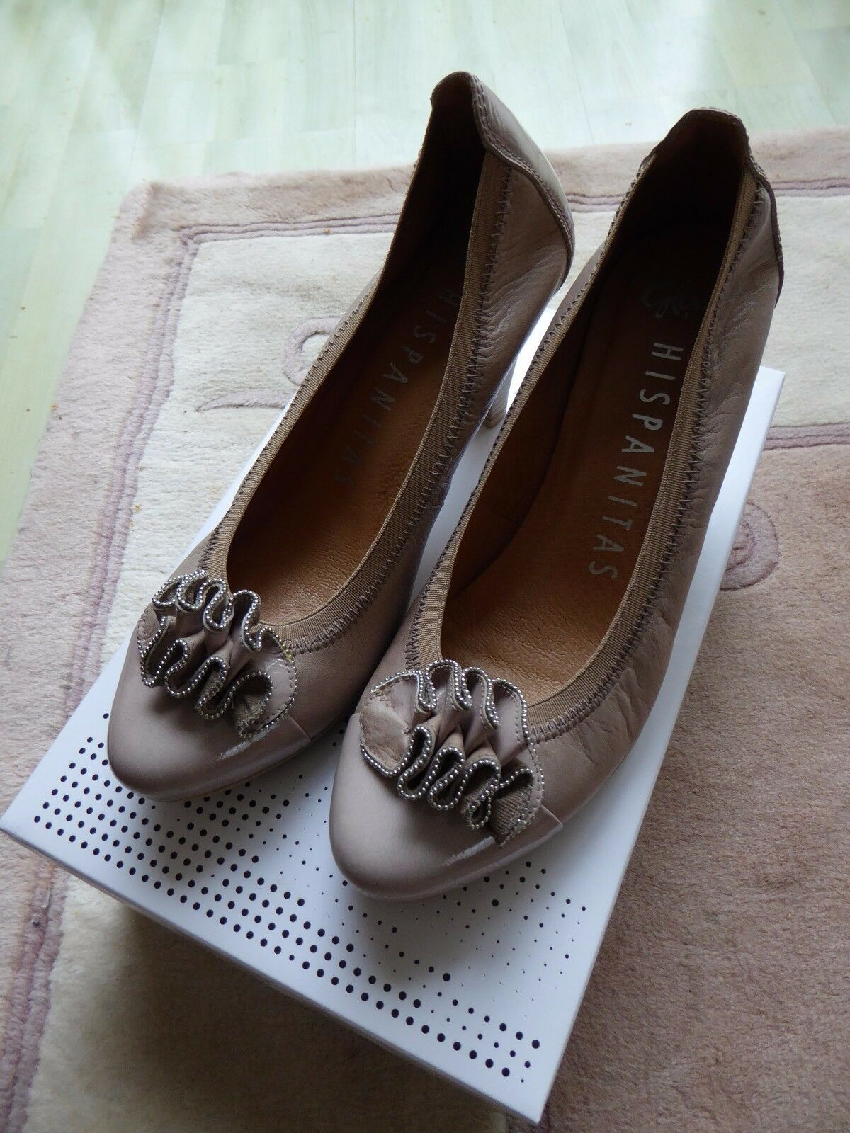 Descuento barato Hispanitas Sauvage-V3 Marmo beige leather heels - 6