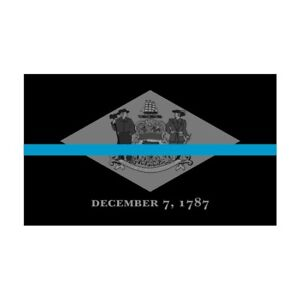 Delaware-DE-State-Flag-Thin-Blue-Line-Police-Sticker-Decal-246-Made-in-USA