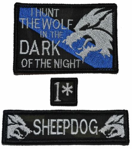 Sheepdog 1x3.75 1* One Ass to Risk 1x1 Patch Set Sheepdog Hunt The Wolf 2x3