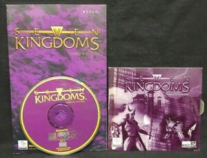 Seven-Kingdoms-PC-1997-CD-ROM-Game-Manual-Mint-Disc-1-Owner