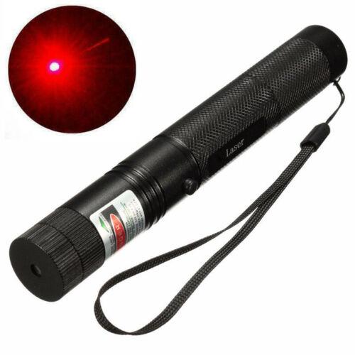 Akku Neuer Starker High Power Laserpointer Rot Lasereffekt Kappe