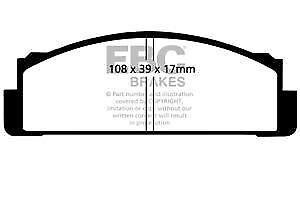 DP116 EBC Ultima Pastillas Freno Delantero para Autobianchi Fiat Fso Innocenti