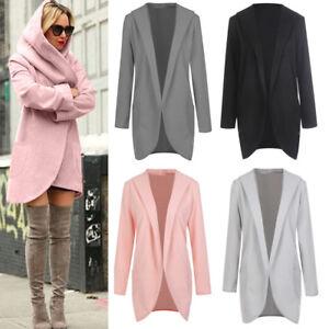 Women-Woolen-Hooded-Thin-Coat-Loose-Ladies-Casual-Hoodies-Jacket-Overcoat-Top