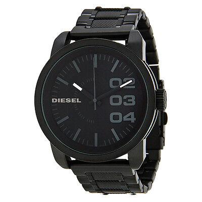 Diesel Black Textured Steel Mens Watch DZ1371