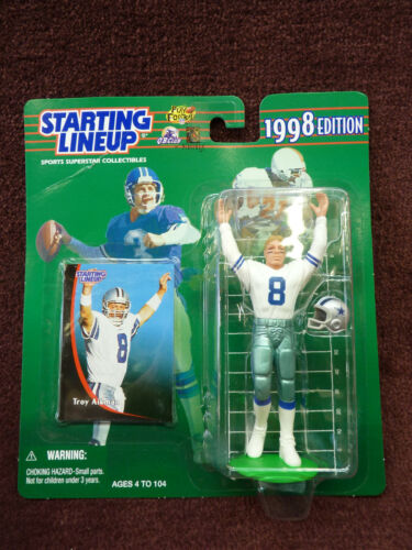 1998 starting lineup Troy Aikman Dallas Cowboys new in package