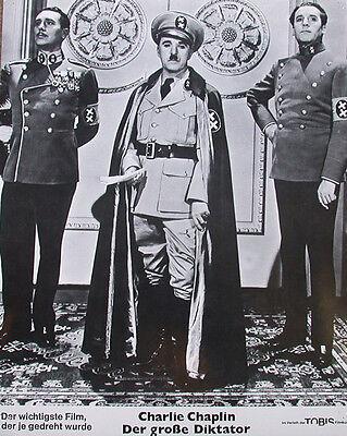 "rare charlie chaplin ""der grosse diktator"" lobby card"
