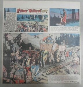 Prince-Valiant-Sunday-by-Hal-Foster-from-6-6-1971-2-3-Full-Page-Size