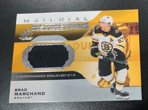20-21 SP Game Used BRAD MARCHAND Material Distinctions Jersey Boston Bruins!