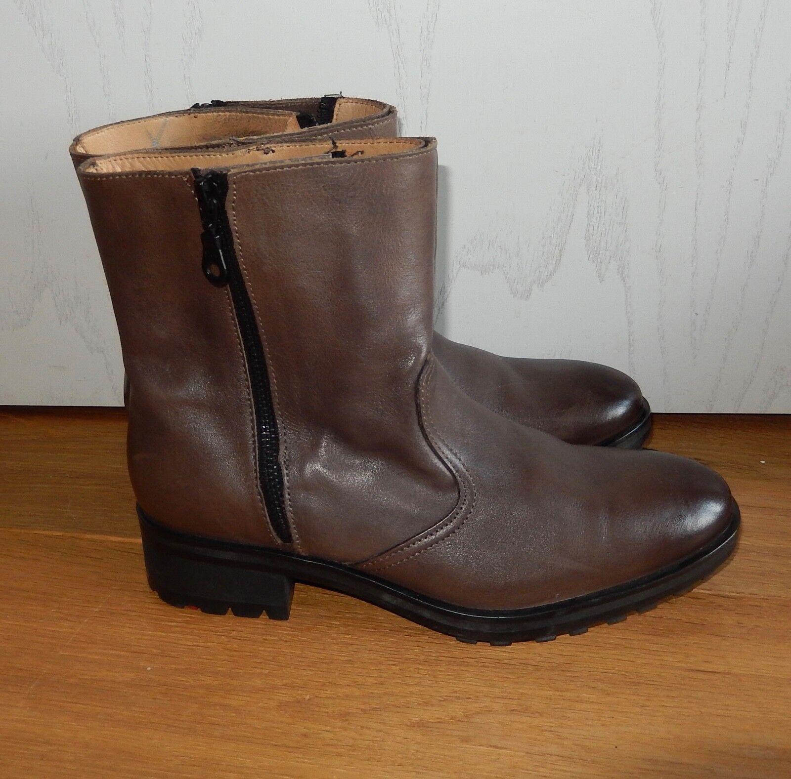 Lloyd botas de cuero marrón botín talla 4,5 Top