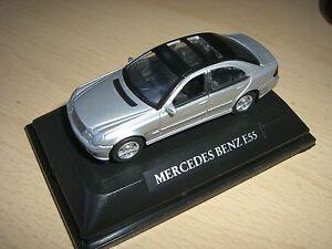 SCHUCO-Welly-Mercedes-Benz-E-55-PLATA-Negro-ANTIGUOS-Schuco-SERIE-1-72