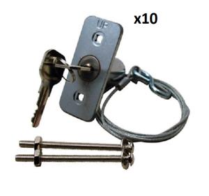 10 Pcs ~ Garage Door Emergency Opener Keyed Release Disconnect Key Lock PosséDer Des Saveurs Chinoises