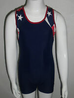 Patriotic Gymnastics Leotard For Boys