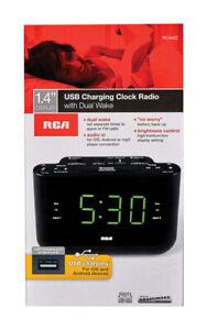 RCA-Black-USB-Clock-Radio-Digital-Plug-In