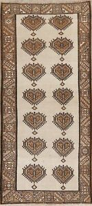 Traditional Geometric Oriental Gabbeh Area Rug Wool Hand-Knotted 3x6 Carpet