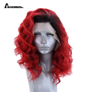 Details about Red Lace Front Wig Synthetic