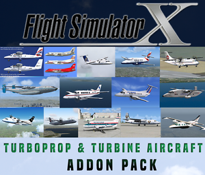 Details zu Flight Simulator X FSX Addon Bundle - Turboprop & Turbine  Aircraft - 15+ NEW!