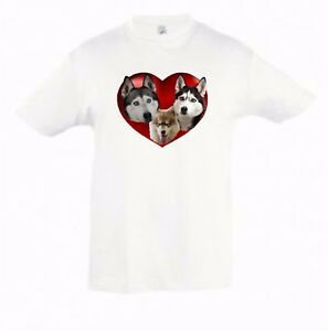 Husky-Dog-Kids-Dog-Themed-Tshirt-Childrens-Tee-Birthday-Gift-Husky