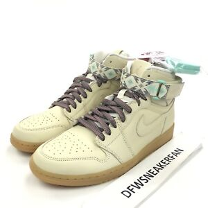 4d516b501f9 Nike Air Jordan 1 Retro Hi Strap N7 Men s 10.5 Light Cream Shoes ...