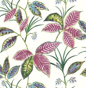 PerséVéRant Papier Peint,designtapete,jungle,floral,scintillant,crème,rose,vert,bleu, MatéRiaux Soigneusement SéLectionnéS