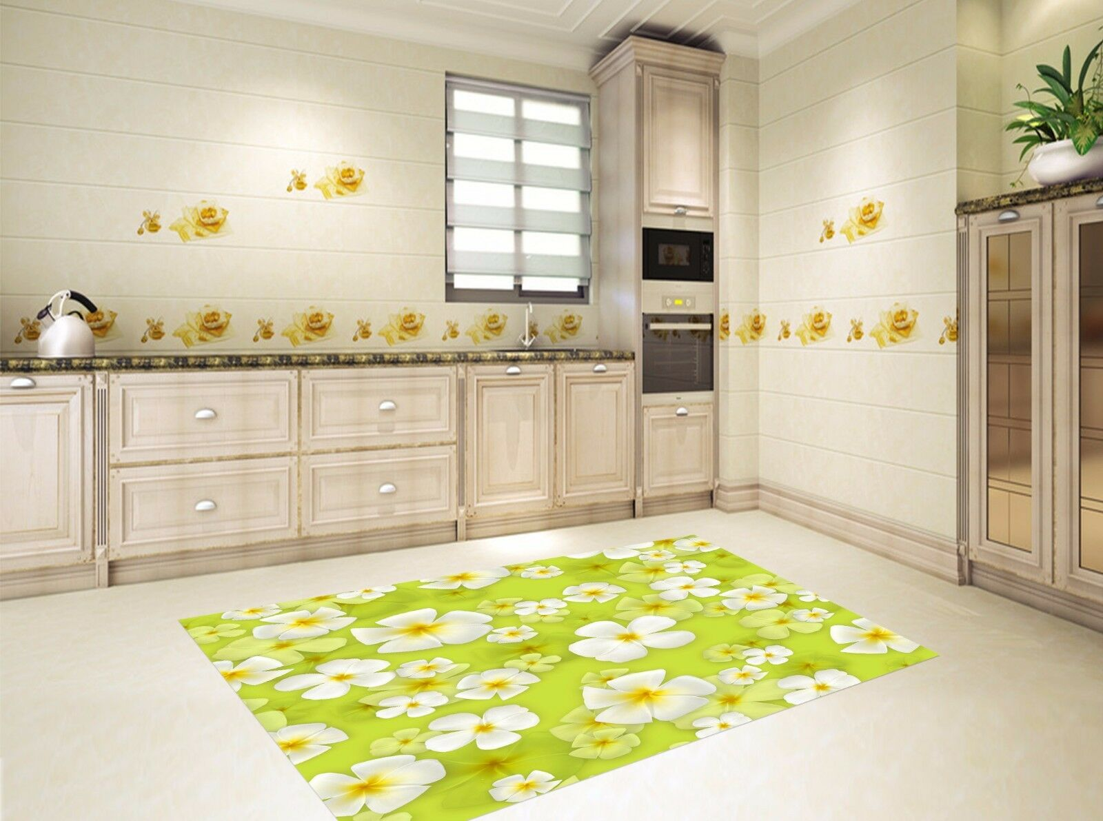 3D Lawn Flowers 92 Kitchen Mat Floor Murals Wall Print Wall AJ WALLPAPER UK Kyra