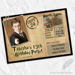 Image Is Loading Harry Potter Birthday Party Invitations Wizard Train Ticket