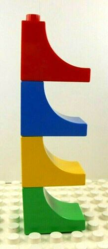 Red//Blue//Yellow//Green 4 Lego Duplo 1x2x2 Tall Concave Pieces Bricks