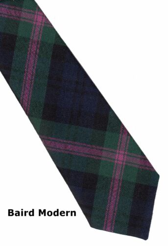 Tartan Tie Baird Clan Modern Scottish Wool Plaid