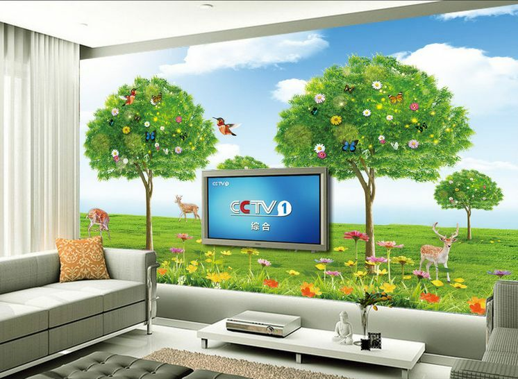 3D Harmonische Tier und Natur Fototapeten Wandbild Fototapete BildTapete Familie
