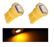 2 LEUCHTEN LAGE LED gelb T10 SMD 5050 glühbirne auto 6000K 12V W5W Gelb