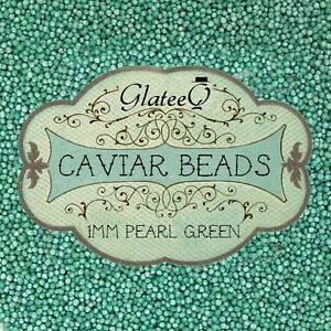 GlateeQ-20g-Pearl-Green-1mm-Caviar-Beads-Craft-Nail-Art-amp-Ciate-Style-Manicure