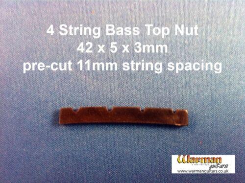 Bridge 42 x 5 x 3 mm Warman Guitars Black Bass guitar Top Nut