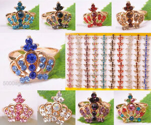 New-Fashion-Crown-Crystal-Ring-Lovely-Cute-Sweet-Rhinestone-Ring-Adjustable