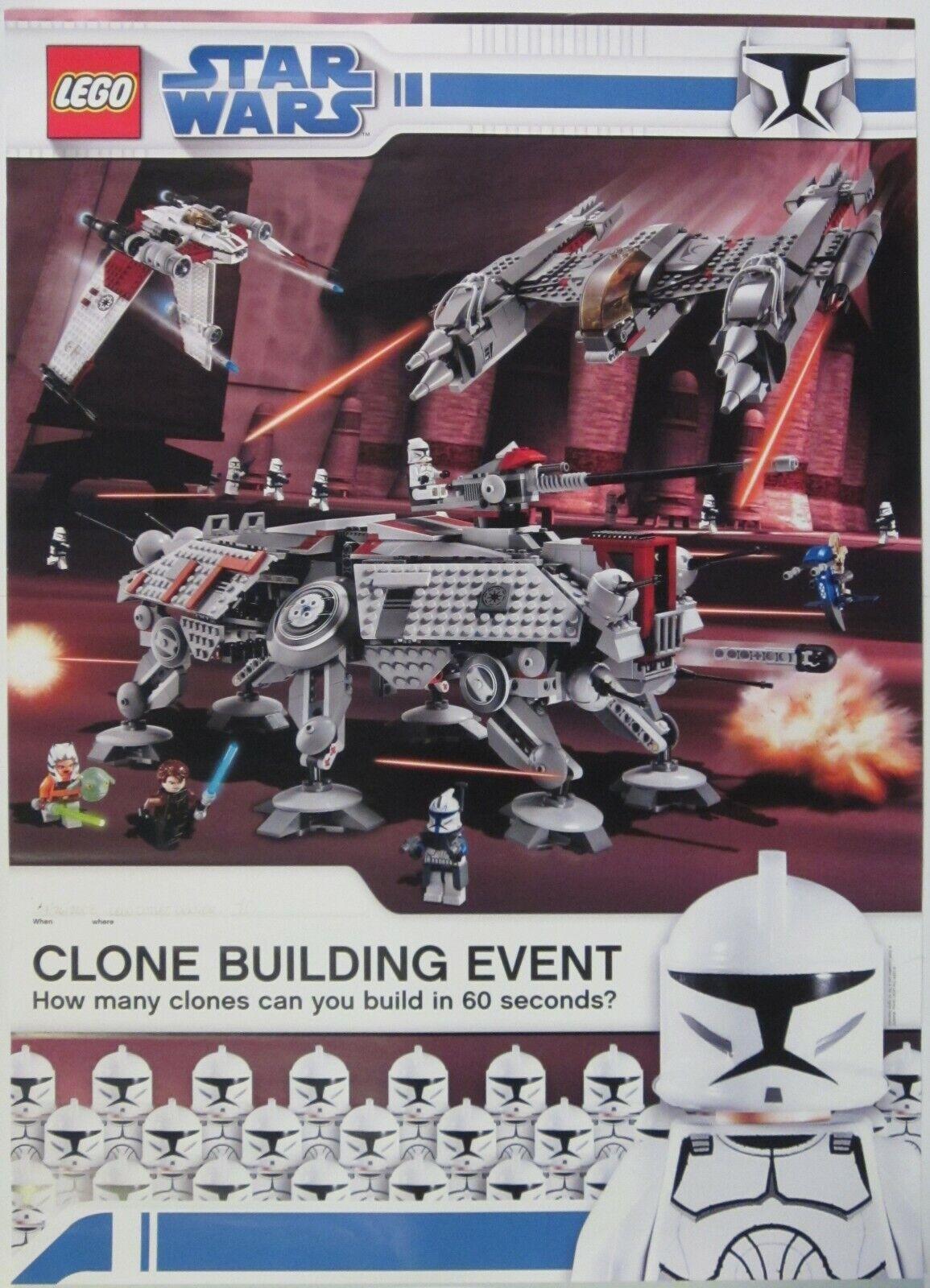 Rare 2008 Lego  Star Wars The Clone Wars Clone Building Event Poster 23.5 x33   économisez jusqu'à 30-50%