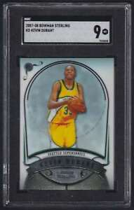2007-08 BOWMAN STERLING ROOKIE KEVIN DURANT RC SGC 9