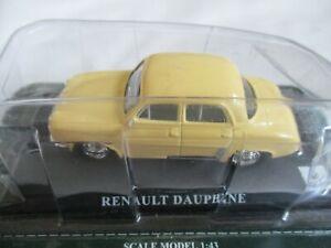 Miniature-Renault-Dauphine-Yellow-Del-Prado-Press-1-43