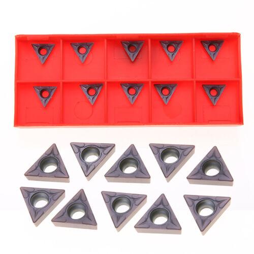 10pcs TCMT110204//TCMT 731 Carbide Inserts Blades Lathe Turning Boring Tool Bar