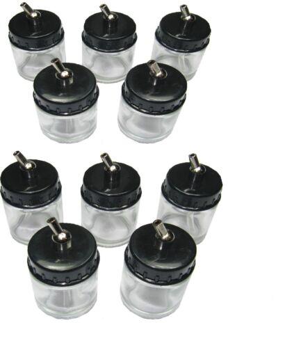 RDGTOOLS 10 X Botellas De Succión Aerógrafo 22CC Cepillo De Aire