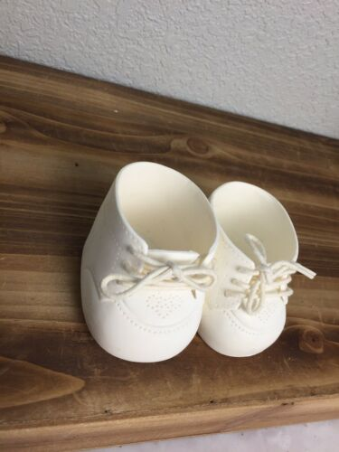 Vintage Cabbage Patch Kids CPK Doll White Sneakers Shoes Great Condition