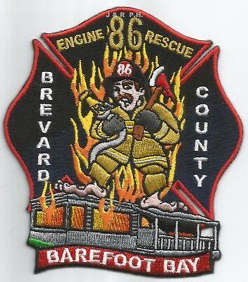 "Rescue fire patch 4/"" x 4.5/"" size Sunrise  Station-83  Engine FL"