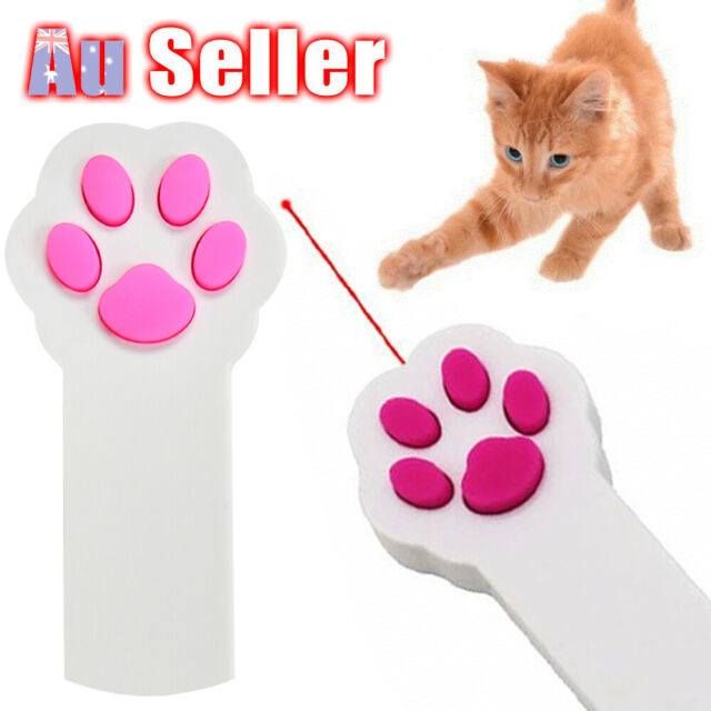 Interactive Laser Funny Pointer EA Cat Claw Shape Dog Beam Pet Playing Toy