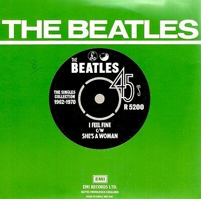 THE BEATLES I Feel Fine Vinyl Record 7 Inch Parlophone R 5200 1976