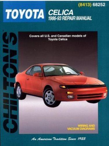 1986-1993 chilton toyota celica repair manual