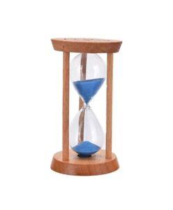 Clessidra-In-Vetro-E-Legno-Timer-Sabbia-Colorata-Durata-Tempo-5-Minuti-dfh