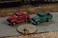 Old Pick Up Truck And Car N Scale Vehicles